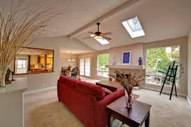 living room and skylight real estate photography
