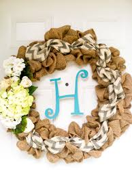 ribbon burlap wreaths creative christmas decoration with