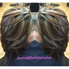chunky highlights and lowlights hair by jess pinterest