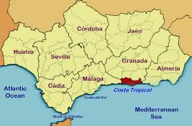 Andalucia Spain Map by Location