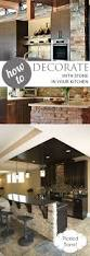 diy kitchen decor ideas how to decorate with stone in your kitchen pickled barrel