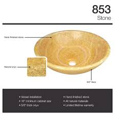 853 honey onyx vessel sink amazon com