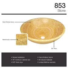 Onyx Bathroom Sinks 853 Honey Onyx Vessel Sink Amazon Com