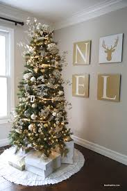 white and goldstmas tree decorations rainforest