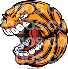 royalty free clip art vector screaming basketball sports logo by