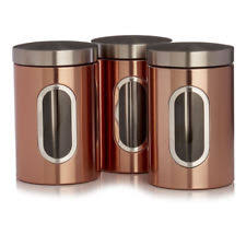 copper canisters kitchen copper kitchen coffee canisters ebay