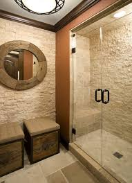 river rock bathroom ideas natural stone bathroom designs minimalist white theme bathtub