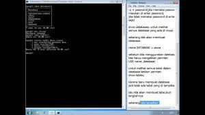cara membuat database baru mysql cara membuat database mysql dengan cmd youtube