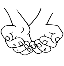 Hand Washing Coloring Sheets - hands coloring page free download