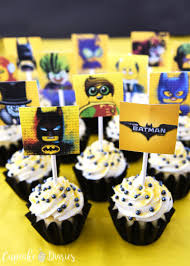 batman cupcakes free printable toppers