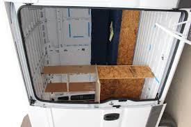 our promaster camper van conversion interior layout build a