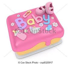 baby shower cake 3d illustration of a cake for a baby