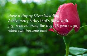 25th Anniversary Wishes Silver Jubilee 25th Happy Anniversary Silver Wedding Cards For Facebook Wooinfo