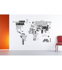 home decor world map wall stickers piece set ann null