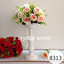 Wholesale Vases For Wedding Centerpieces Tall Mental Flower Stands Wedding Table Centerpieces For Weddings