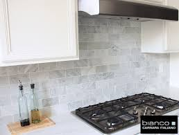 carrara marble subway tile kitchen backsplash carrara bianco 3 6 kitchen backsplash the builder depot