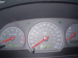 2002 volvo s40 instrument panel displays