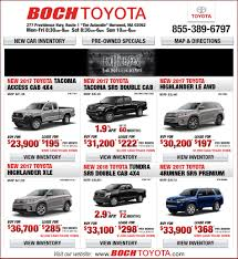 toyota lease new truck specials boch toyota norwood