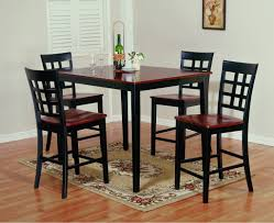 tall cherry wood bistro table contemporary two toned gathering