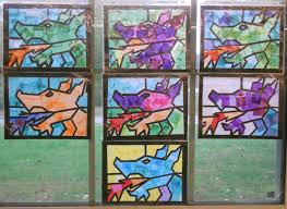 create art with mrs p dragon faux stained glass