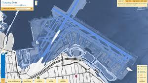 Lga Terminal Map Surging Seas Shows 1ft Of Rising Seas Flood The Nyc Shoreline