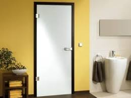 glastüren badezimmer satinierte glastür