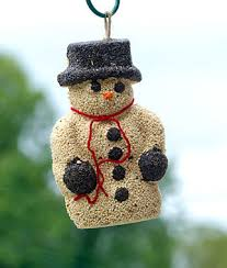 snowman seed wreath gardening gifts decorations bird