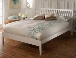 4ft Wooden Bed Frame Limelight Ananke 4ft Small White Wooden Bed Frame By