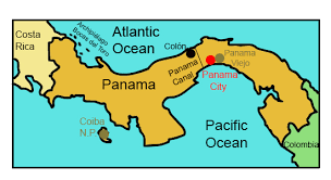 map of panama city panama for