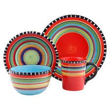 gibson pueblo springs 16pc dinnerware set target