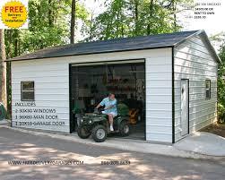 2 Door Garage by Free Delivery Garages Steel Garages Garage Kits Metal Garages