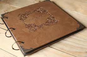 black leather scrapbook large leather photo album scrapbook wedding guest book black