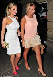 sam faiers wears a short sheer dress to enjoy a business dinner