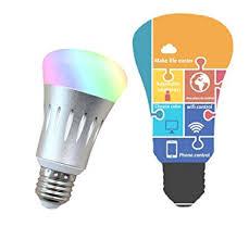 alexa compatible light bulbs upstone smart wifi bulb led smart switch rgb multicolor compatible