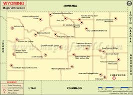 map usa showing wyoming travel attractions in wyoming wyoming travel map