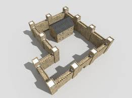 low poly medieval castle 3d model cgtrader