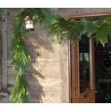 25 ft fresh cut mixed cedar and pine garland
