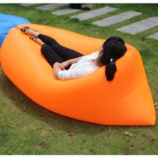 Air Filled Sofa by Portable Inflatable Lazy Sofa Single Sleeping Air Bag Camping
