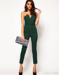 fitted jumpsuit siamese trousers summer jumpsuit conjoined