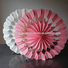 pink white paper luxe heart fan decorations honeycomb tissue