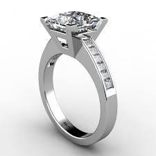 daimond ring certified princess cut diamond ring