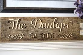 custom last name established reclaim wood sign u2013 indigo ember