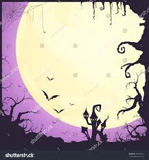 scary halloween background music vector illustration halloween poster background scary stock vector