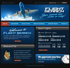 airline tickets website template 17071