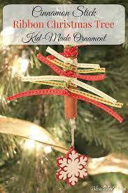 cinnamon stick ribbon tree ornament miss mae s days