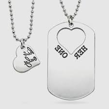 His And Hers Dog Tags Matching Necklaces For Boyfriend And Girlfriend Archives Planet