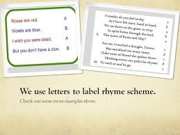 rhyme scheme how an author creates rhyming in a poem how you can