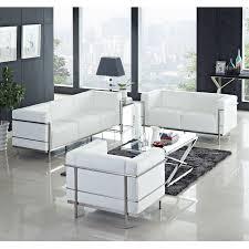 Le Corbusier Style LC Sofa In Leather Multiple ColorsMaterials - Corbusier sofas