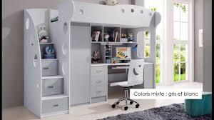 lit mezzanine enfant bureau lit mezzanine enfant idee moderne blanc couleur decoration combine