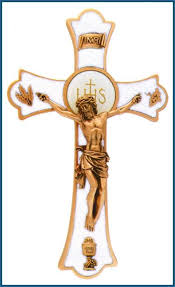papal crucifix 8 pewter holy mass crucifix with pearl enamel papal blessing